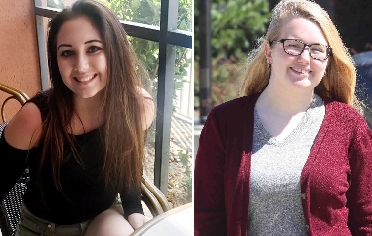 """High school senior Peyton McConville, left, called the four-year residency requirement """"restricting:"""" SUNY Buffalo State sophomore Olivia Harbol said: """"The dream of living out of state for a little while is going to be gone."""" (Harbol photo by John Hickey/Buffalo News)"""