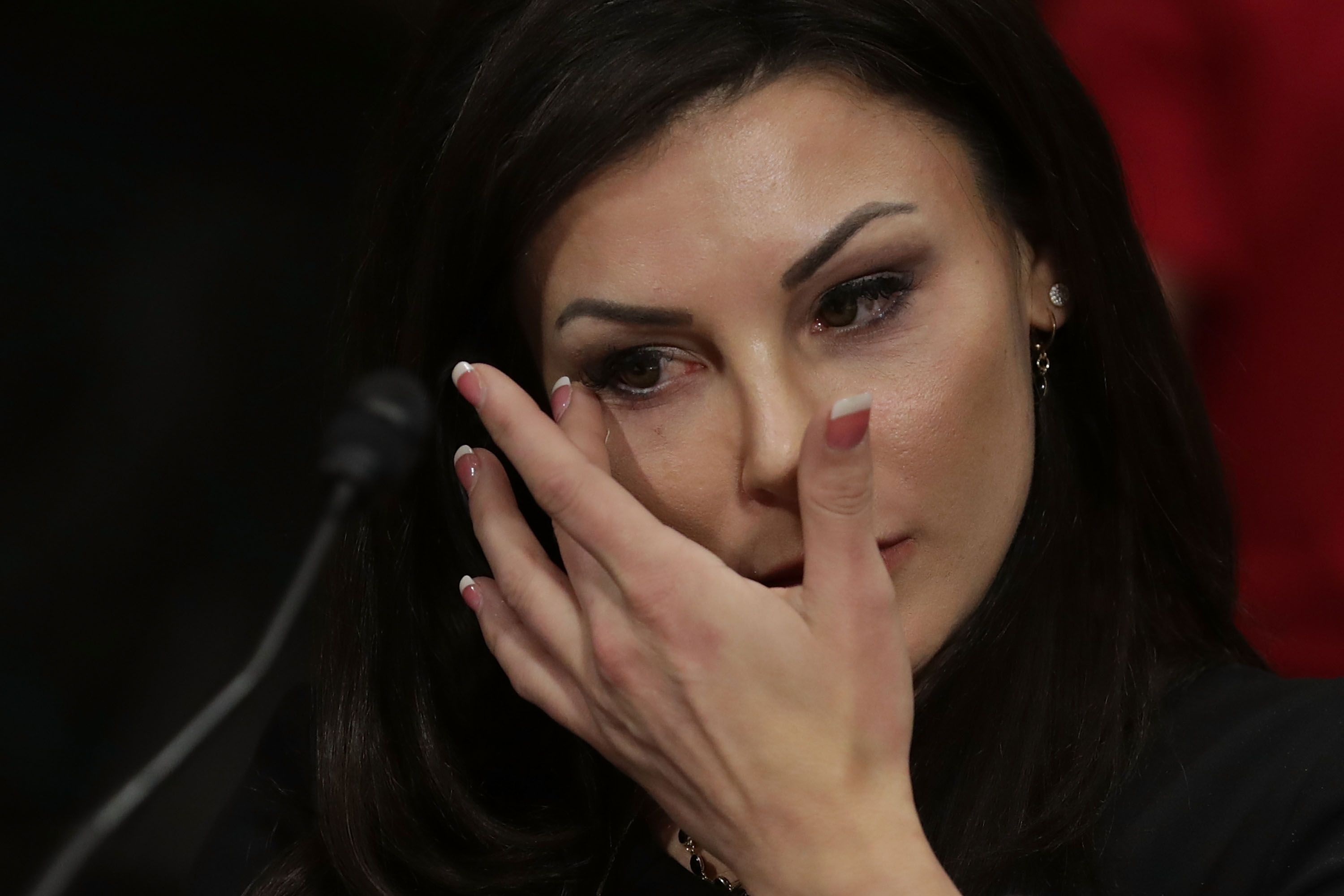 Jamie Dantzscher, former gymnast and 2000 Olympic Bronze Medalist, testified before the Senate Judiciary Committee about her sexual abuse at the hands of a team doctor. (Getty Images)