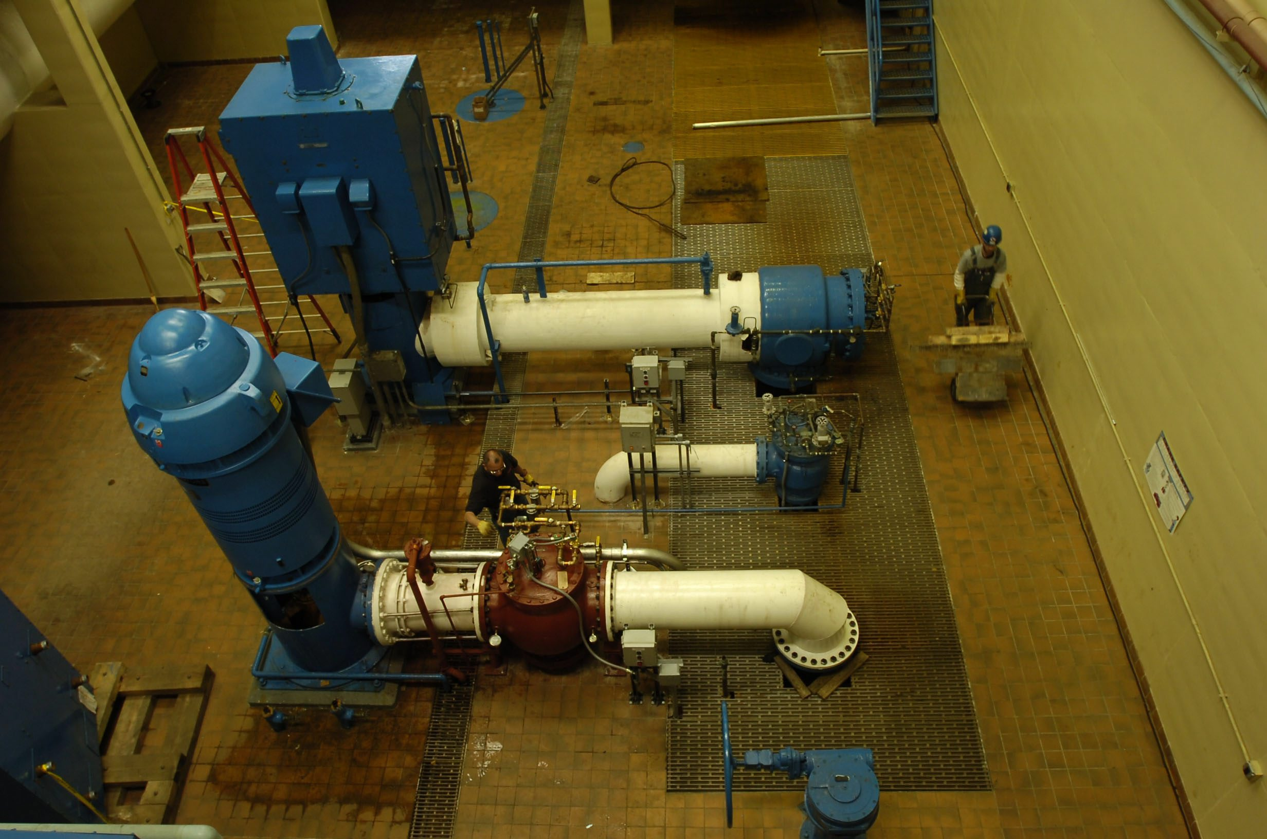View of the motors and pumps that drive water from the Erie County Water Authority Tonawanda plant. (Buffalo News file photo)