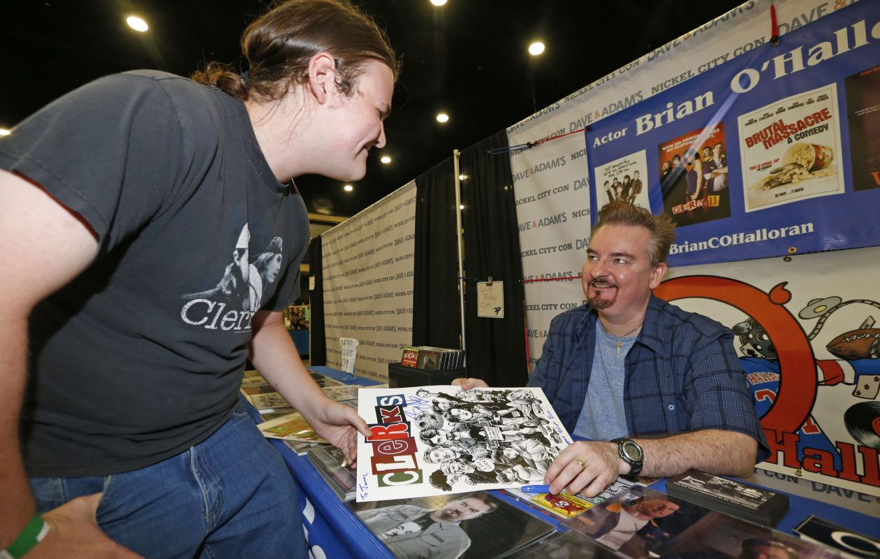 Conventions like Nickel City Con allows fans to meet their favorite celebrities. At the 2016 convention, fan James McAllen met actor Brian O'Halloran, who starred in the 'Clerks' movies.  (Robert Kirkham/Buffalo News file photo)