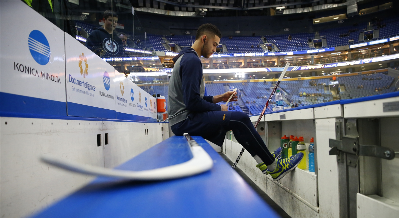 Justin Bailey wants to become a regular in the Sabres' arena. (Harry Scull Jr./Buffalo News)