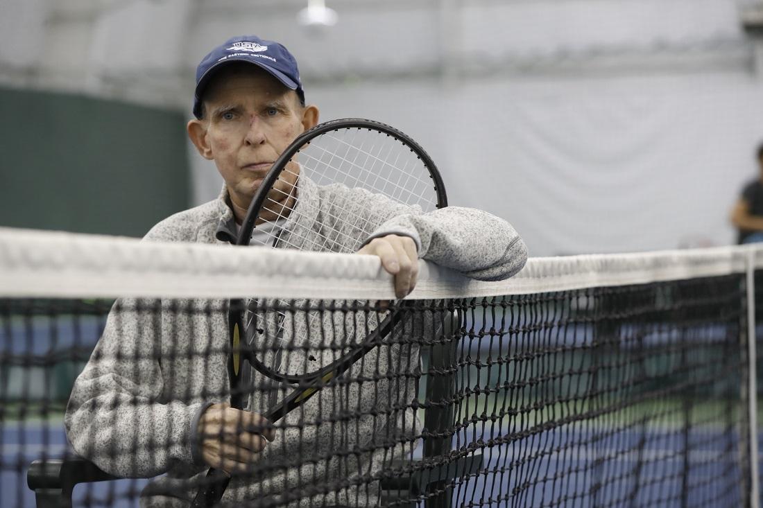 Al Litto a the Village Glen tennis center on Wednesday, April 12, 2017. (Harry Scull Jr./Buffalo News)