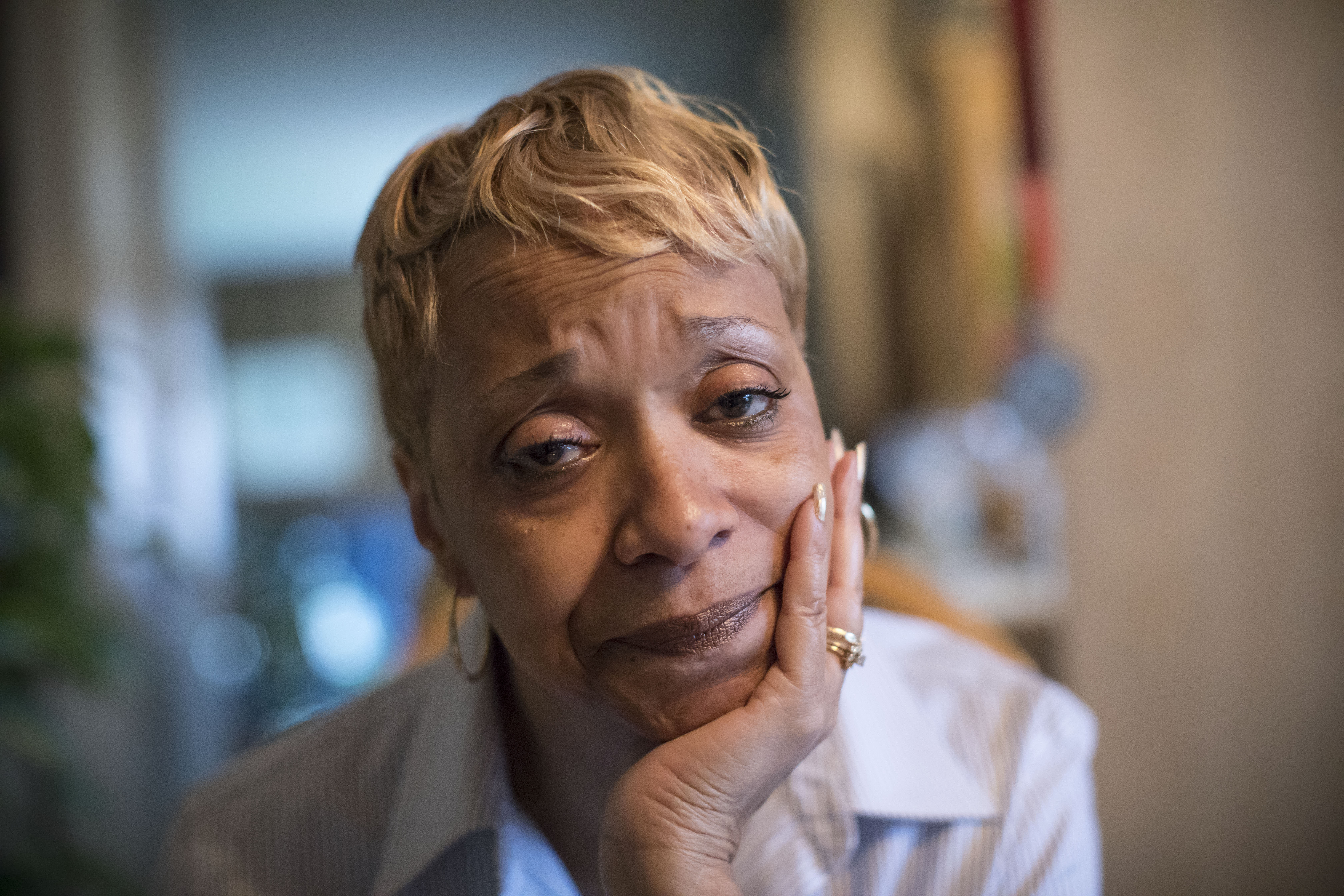 Sandra Green lost both of her sons – Steven Barney Jr., 31, and Corey Green, 21 – to gun violence in 2007. (Derek Gee/Buffalo News)