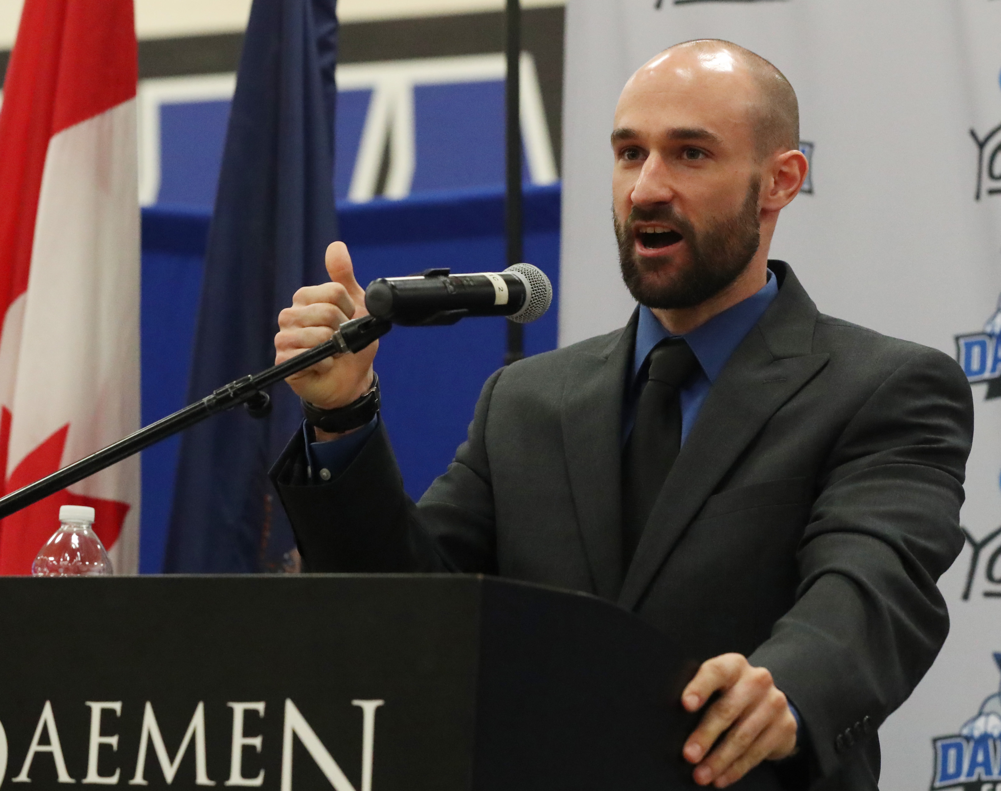 Daemen introduced Don Gleason as their new mens volleyball coach Friday. (James P. McCoy/Buffalo News)
