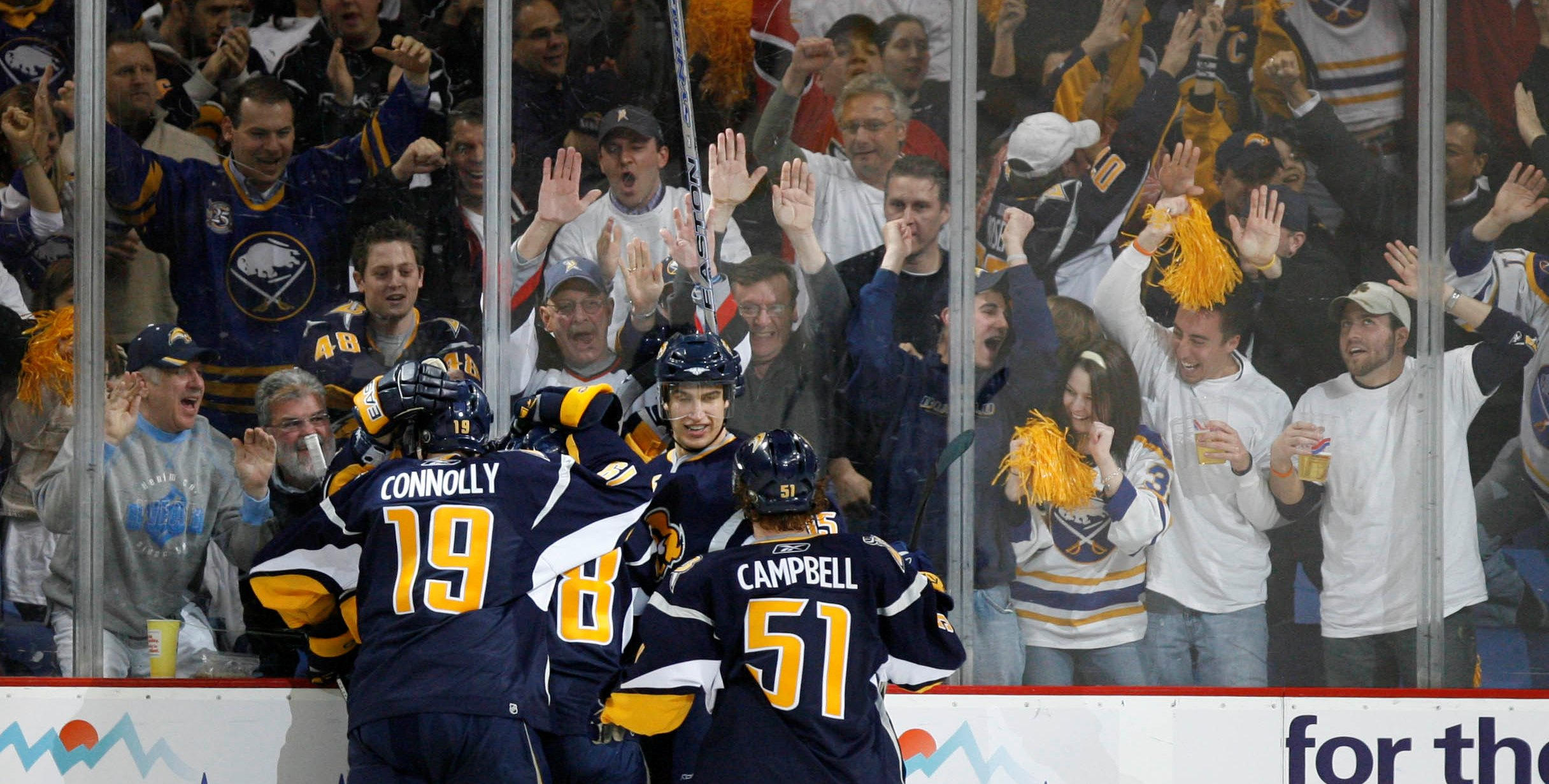 Buffalo fans celebrate their team's goals just as much as the players on the ice – or the field, or the court – do. (Mark Mulville/News file photo)