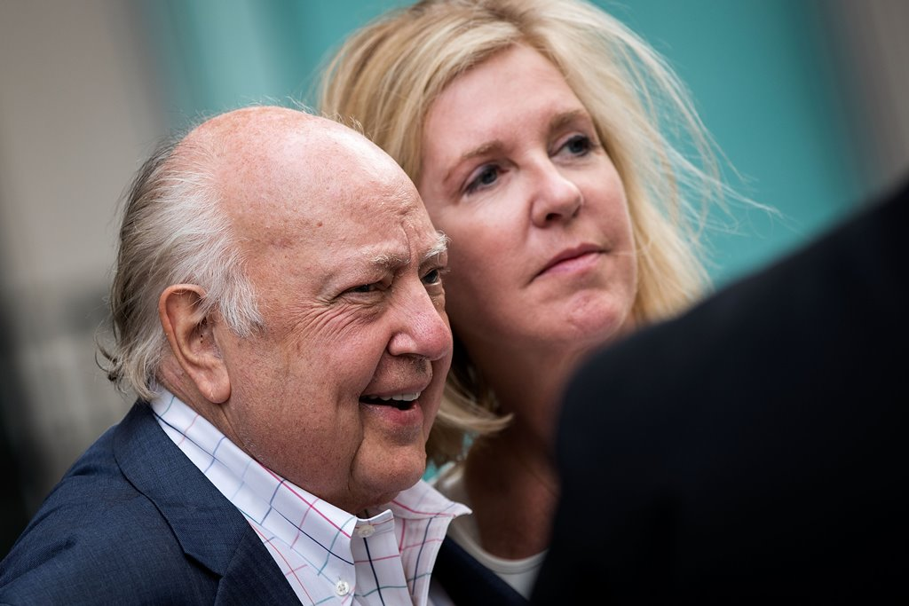 Fox News chairman Roger Ailes walks with his wife Elizabeth Tilson in this file photo. (Getty Images)
