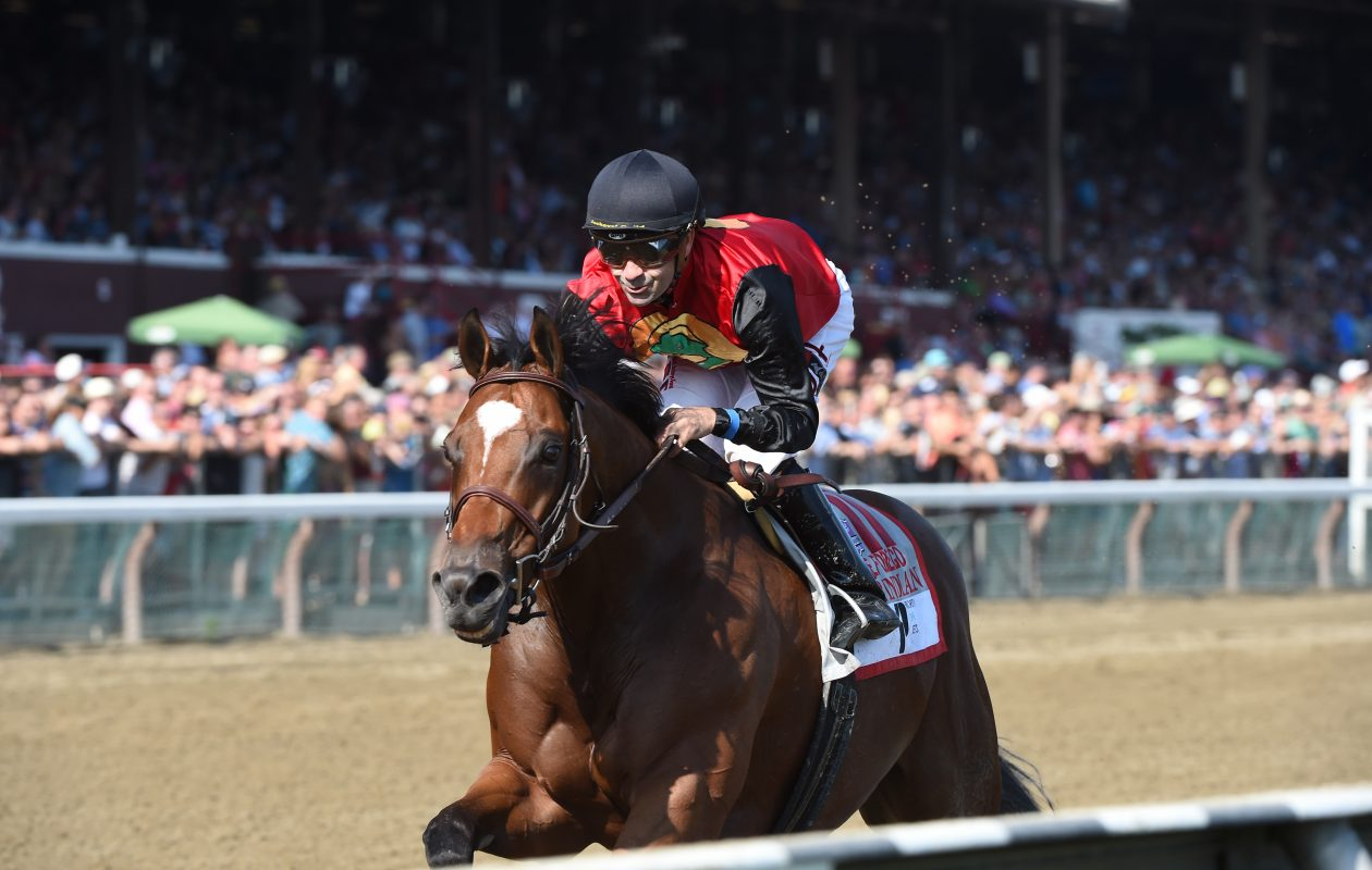 A.P. Indian is the morning line favorite in the Grade 3 Maryland Sprint. Photo Credit: Adam Mooshian/NYRA