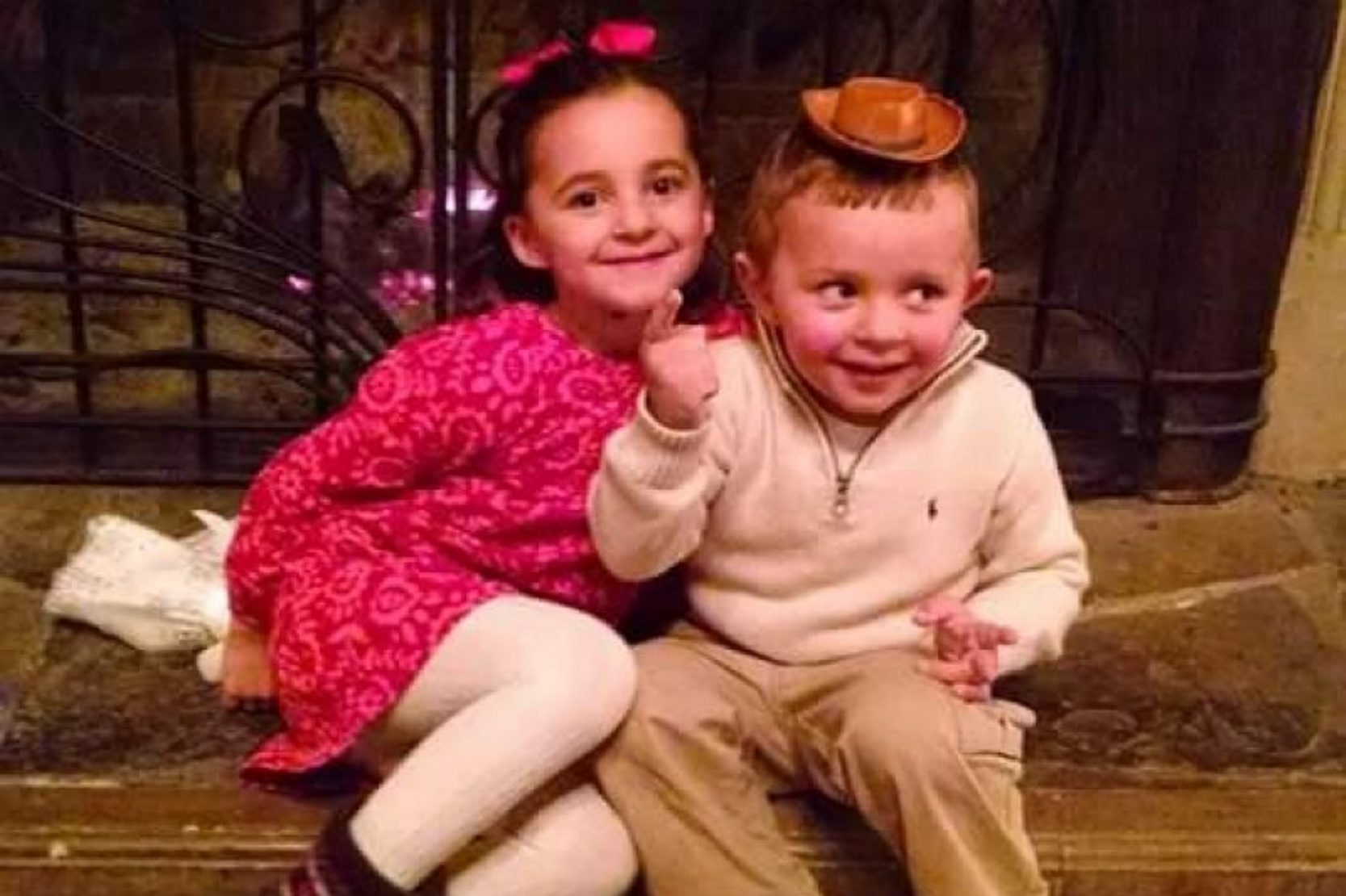 Stephanie Sugorovskiy and little brother Maksym.
