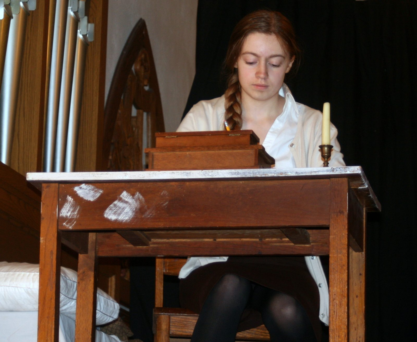 "Summer Harris plays Anne Frank in a new production of ""The Diary of Anne Frank"" presented by Raiders of Niagara."