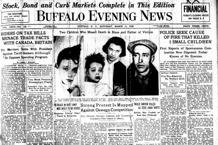 Forgotten Crime Friday:  Hero grandfather, 3 children die in 'shocking' 1939 arson