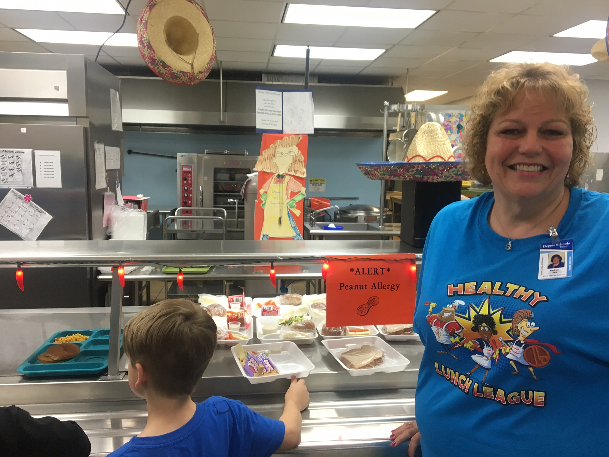 """We're not just throwing together sandwiches,"" says Barbara Albi, food service director with the Depew Union Free School District. (Photos by Scott Scanlon)"