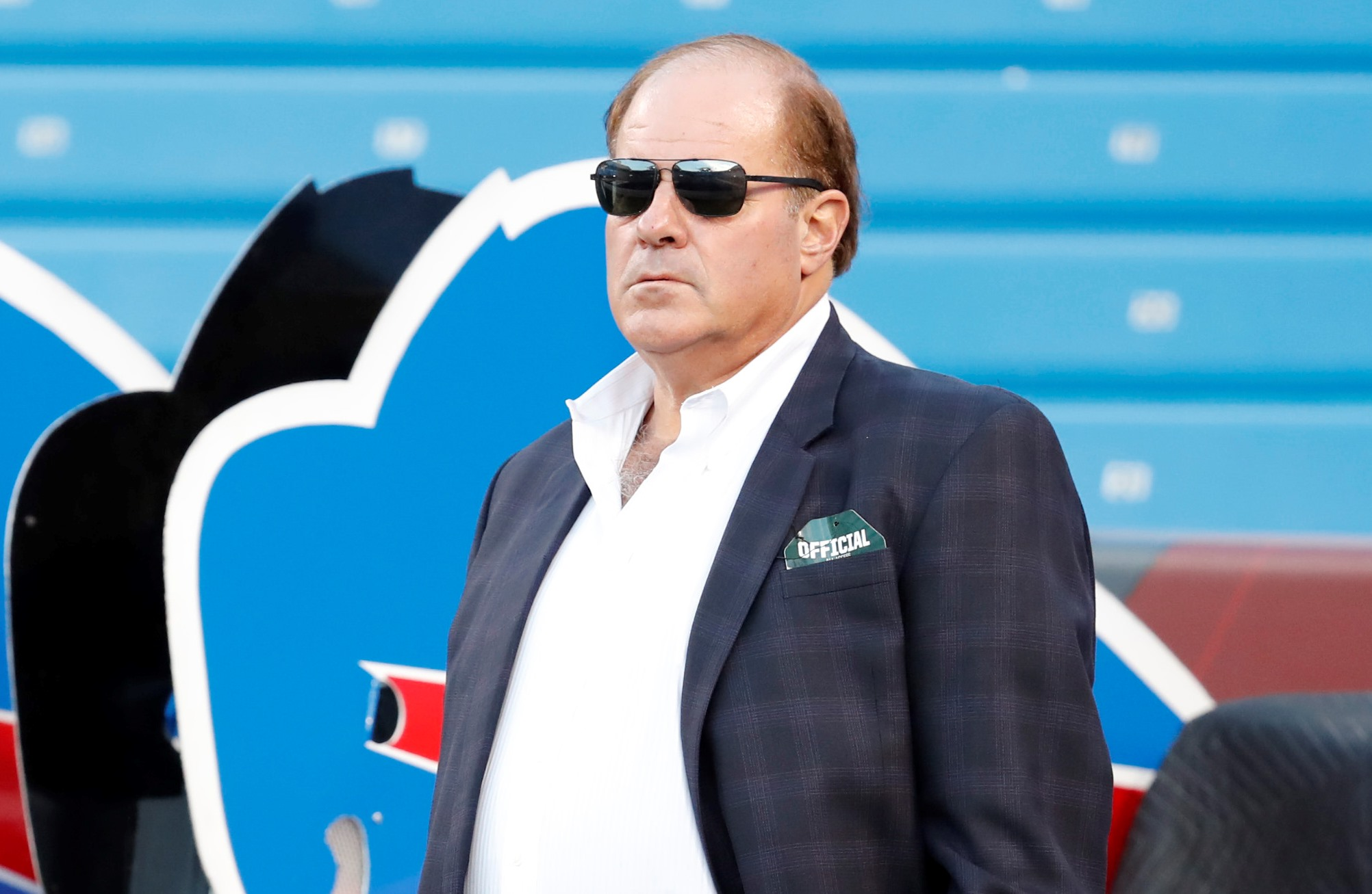 ESPN's Chris Berman watches pregame prior to the Buffalo Bills and New York Jets at New Era Field on Thursday, Sept. 15, 2016. (Harry Scull Jr./Buffalo News)