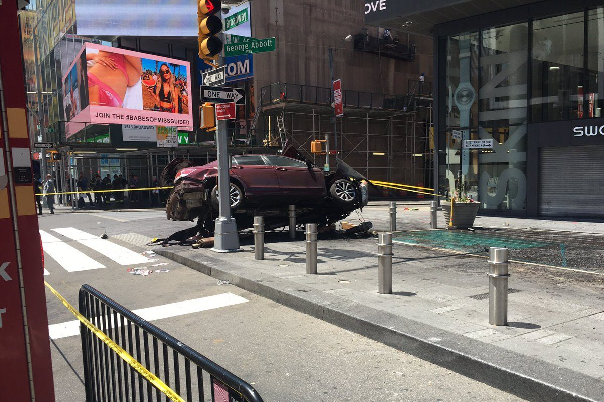 The scene in Times Square after a car hit a crowd of pedestrians. (New York Fire Department photo)