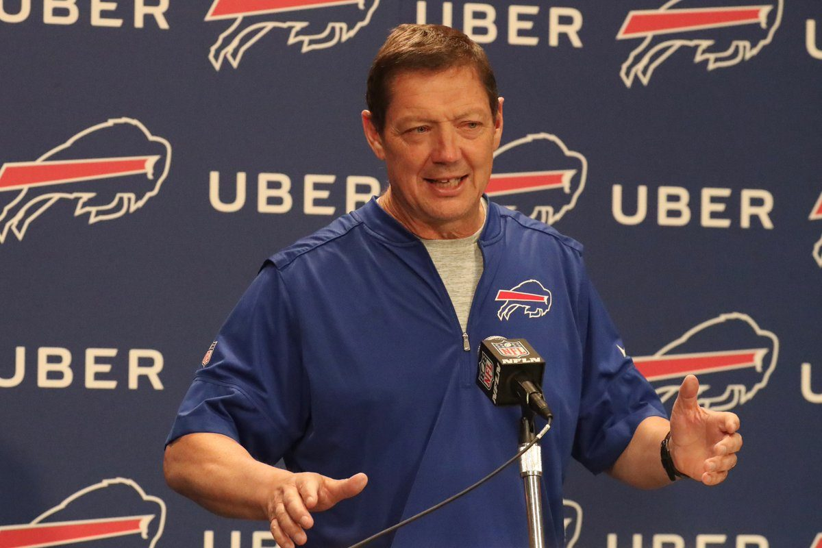Buffalo Bills offensive coordinator Rick Dennison believes quarterback Tyrod Taylor will be a good fit in his scheme. (James P. McCoy/Buffalo News)