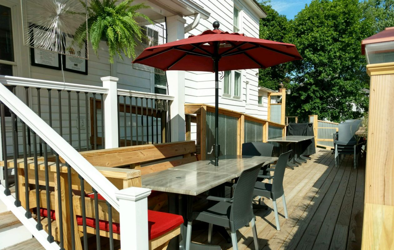 The patio at Daniels restaurant is ready to go for the summer. (Photo courtesy of Daniels)