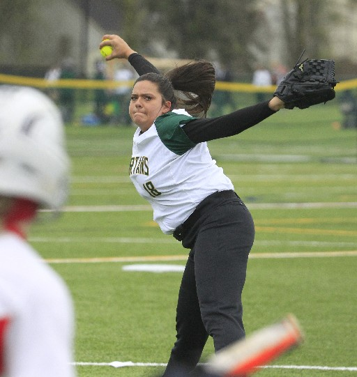 Williamsville North's Emily Nicosia was almost untouchable as the Spartans blanked Jamestown on Saturday. (Photo by Harry Scull Jr. / Buffalo News)