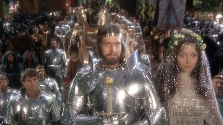 "Nigel Terry is King Arthur and Cherie Lunghi is Guinevere in John Boorman's epic ""Excalibur."""
