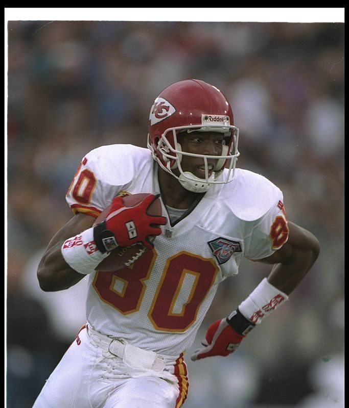 Bills assistant director of college scouting Lake Dawson had a six-year playing career as a wide receiver that included time with the Kansas City Chiefs. (Getty Images)