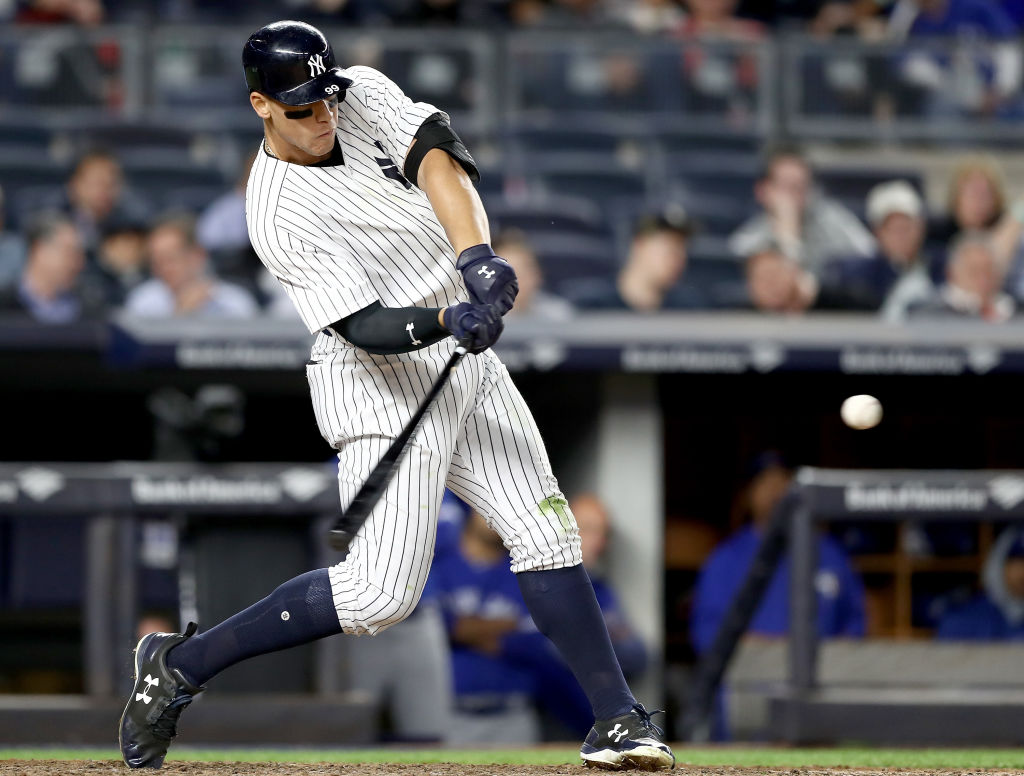 Yankees rookie Aaron Judge is powering the team's offense. (Getty Images)