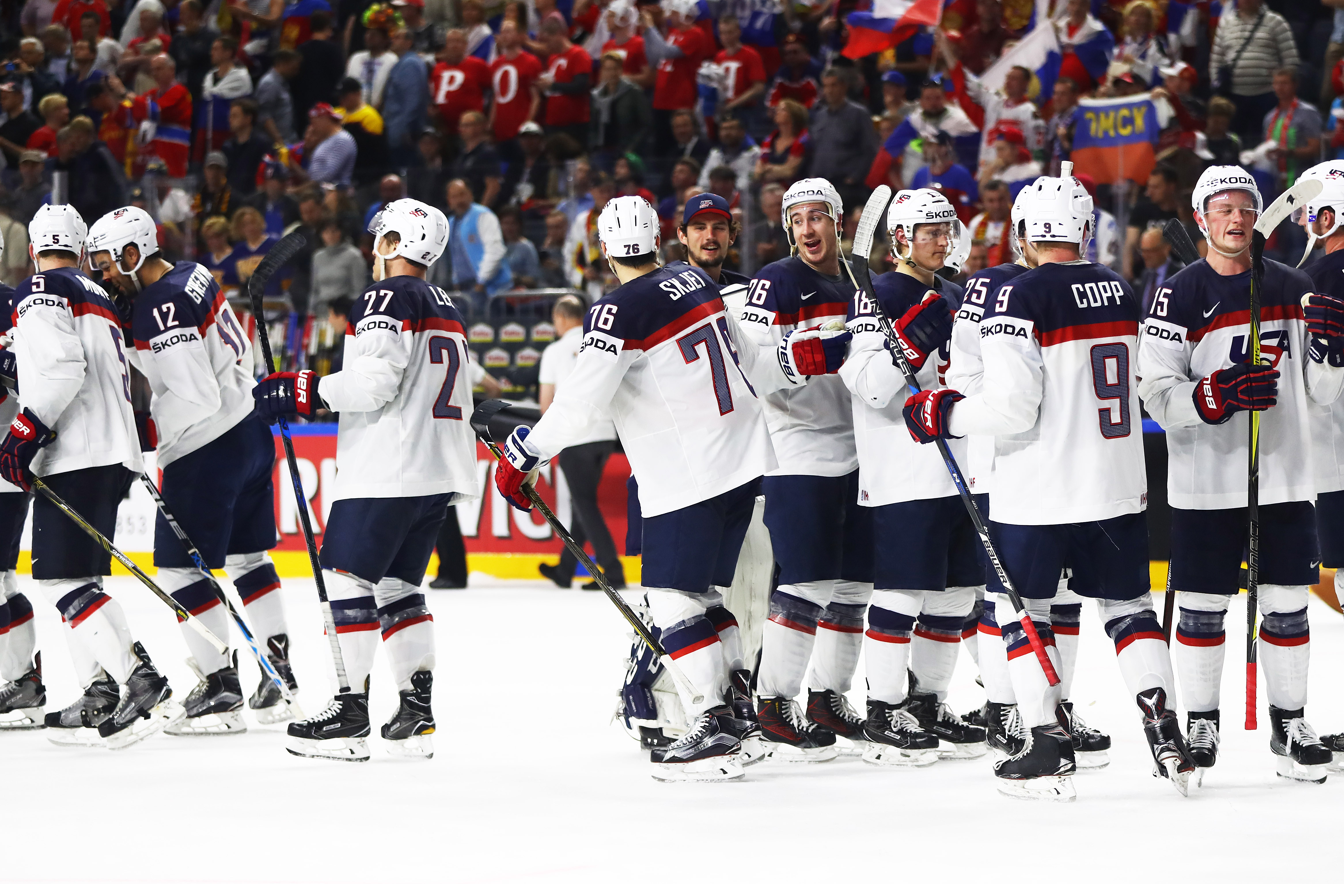 Jack Eichel (15) and the Americans have won six straight games. (Getty Images)