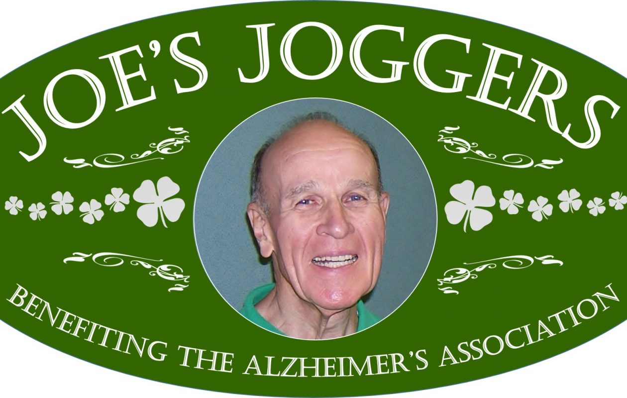 Here's the logo for 'Joe's Joggers,' a family that gathering this weekend to salute Joe Flanigan.