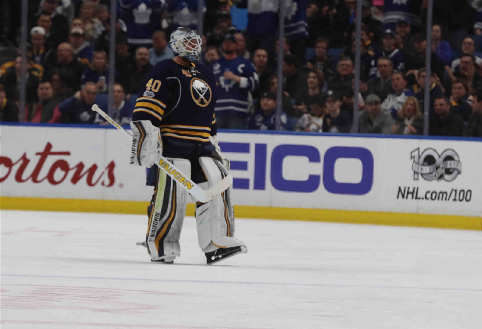 Robin Lehner had a .920 save percentage last season. (James P. McCoy/Buffalo News)