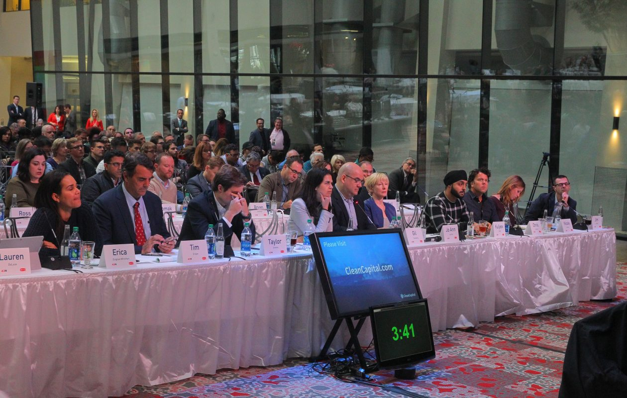 Judges listen to a pitch at the 43North Competition in 2016.     (John Hickey/Buffalo News file photo)