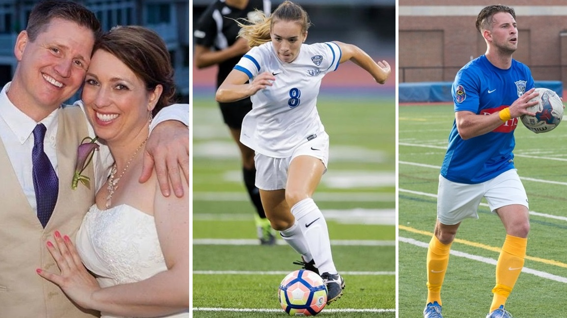 May 20 is a big day for Buffalo soccer. See what's on tap. (left photo by Rachael Hyde Photography, middle photo via UB; right photo via Matt Weinberg)