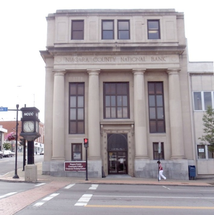 A vacant former bank at Main and Pine streets in Lockport will become a BOCES adult education center this fall. (Courtesy Niagara County Public Information Office)