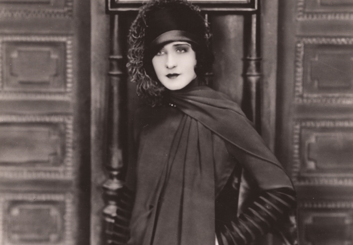 Norma Shearer stars in the 1926 silent film 'Upstage.' It was the first movie shown at the Riviera Theatre.