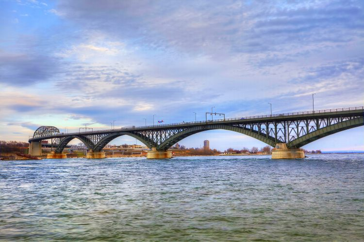 Reps. Collins and Higgins want the Peace Bridge to be in line for federal infrastructure spending.  (News file photo)
