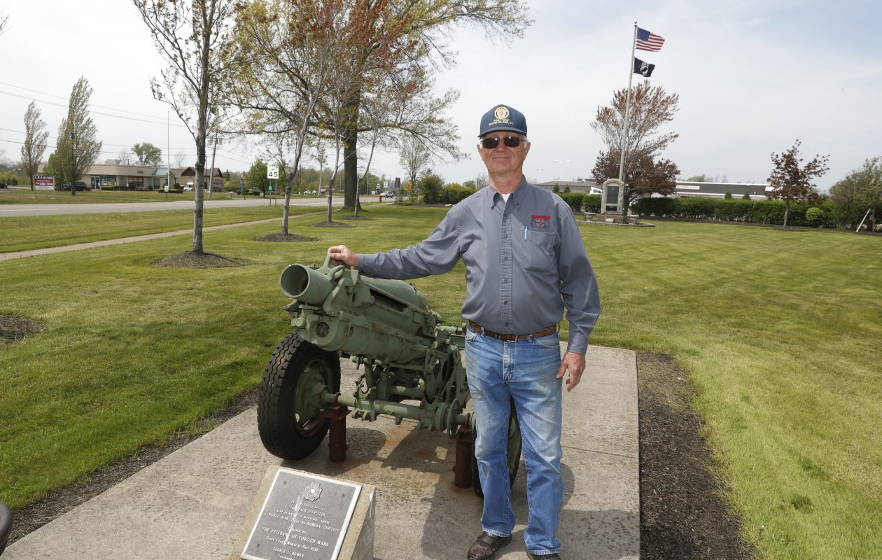 Ray DeGlopper, nephew of World War II hero Charles N. DeGlopper, at DeGlopper Memorial Park on Grand Island on Wednesday, May 17, 2017. The park is undergoing a $750,000 update. (John Hickey/Buffalo News)