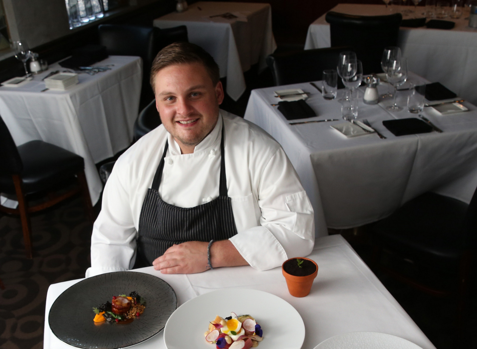 Oliver's Executive Chef Ross Warhol will present dinner at the James Beard House in June. (Sharon Cantillon/Buffalo News)