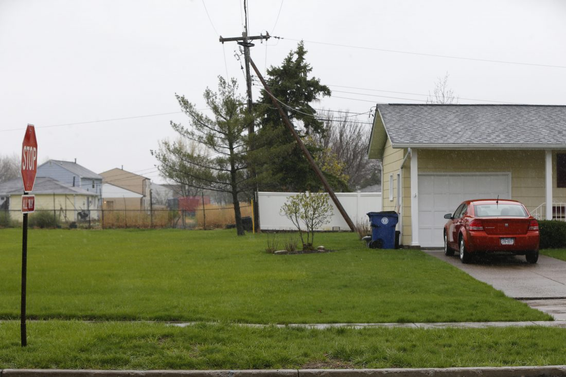 Verizon Wireless has proposed installing small cell transmitters on 12 utility poles in residential areas in the Town of Amherst, including this one across the street from Willow Ridge Elementary. (Mark Mulville/Buffalo News)