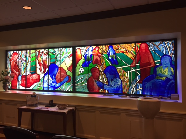 Stained glass windows will move along with the rest of Children's Hospital
