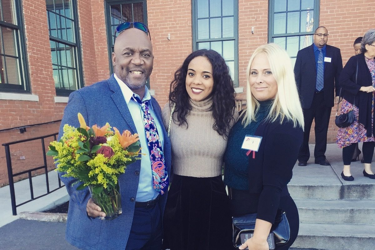 Buffalo Bills Pro Football Hall of Famer Thurman Thomas, his wife, Patti, right, and their daughter Annika are chairs of the Buffalo Superhero 5K Race and Wellness Walk,  dedicated to mental health awareness.