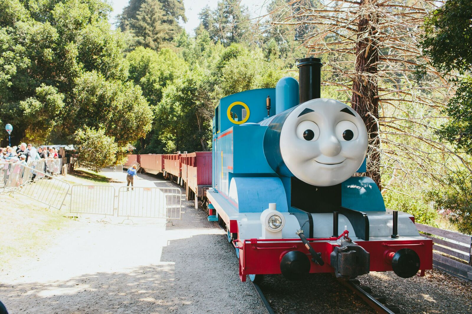 Mavericks the Tank Engine, rolling along … (Photo courtesy Mattel.)