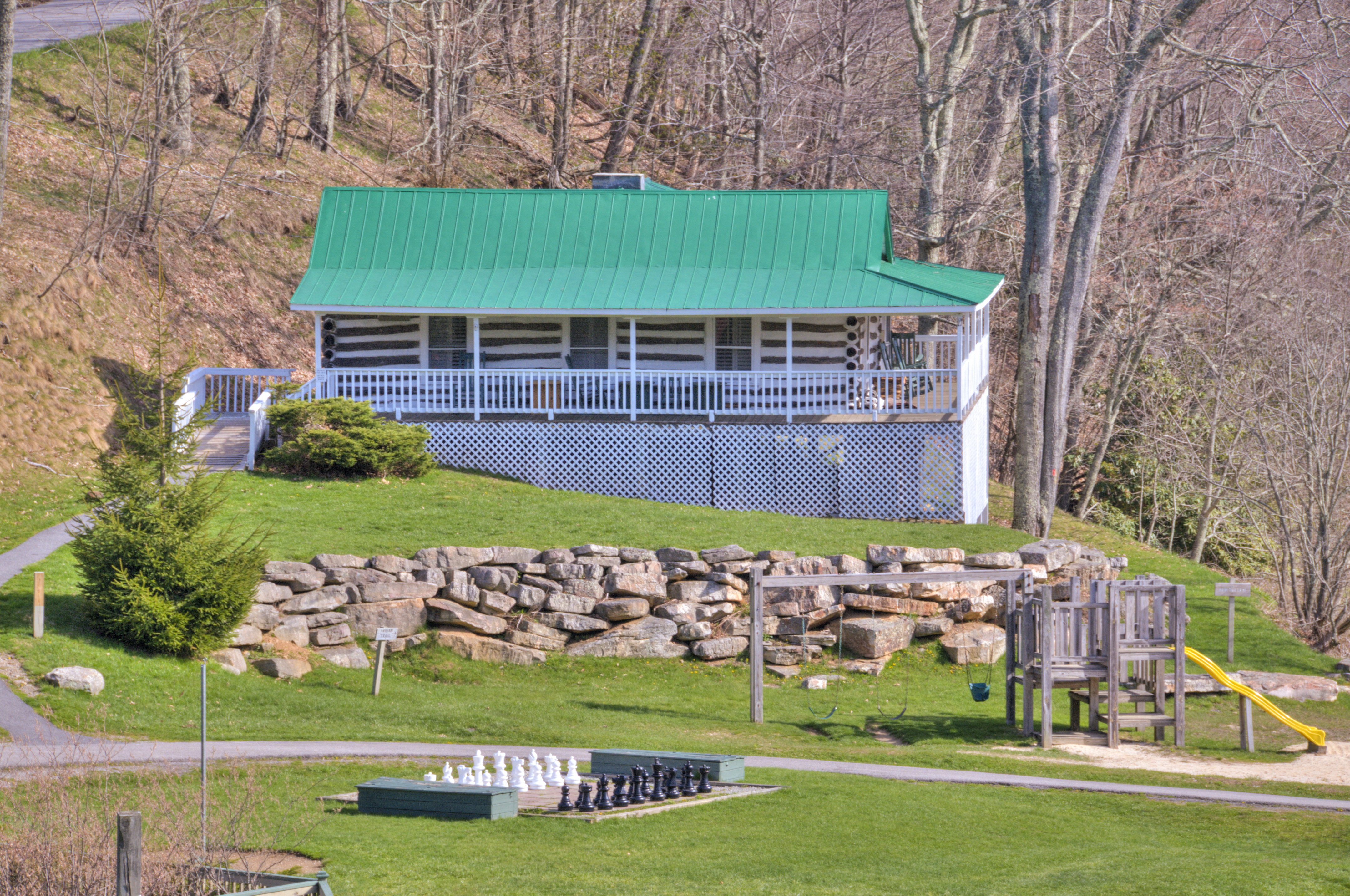 The Virginia Cottage (aka Baby's Cabin) is the most popular at the Mountain Lake Lodge in Virginia. It's generally booked a year in advance, especially for the Dirty Dancing weekends. (Photo courtesy of Mountain Lake Lodge.)