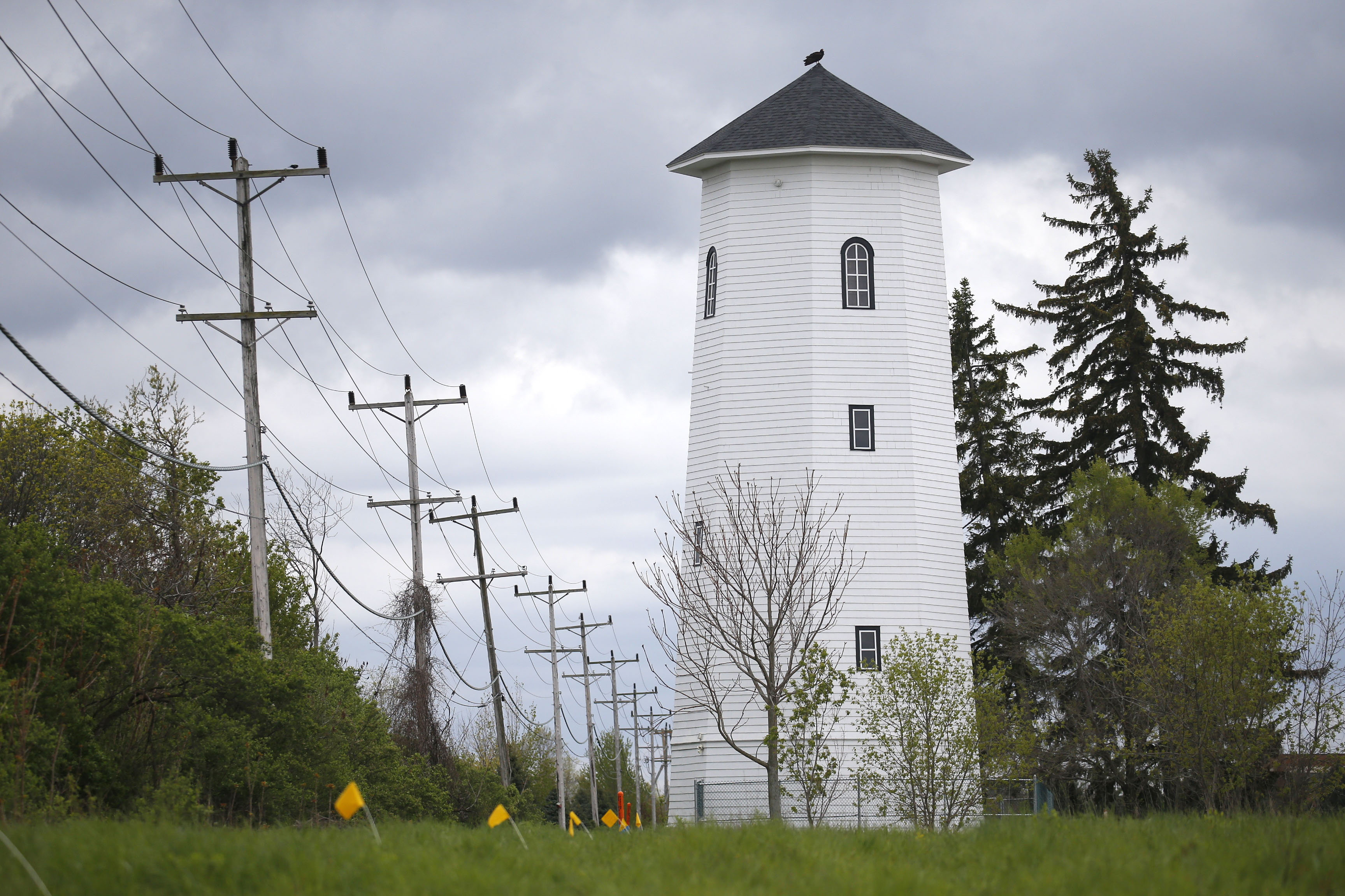 Marrano was ordered to preserve a historic water tower on the Windstone development  property. (Robert Kirkham/Buffalo News)