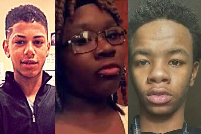 Burgard High School students killed in separate shootings last year were, from left, Kristian Piazza, 16, Shaunice Gamblin, 15, and Daniel Glover, 17.