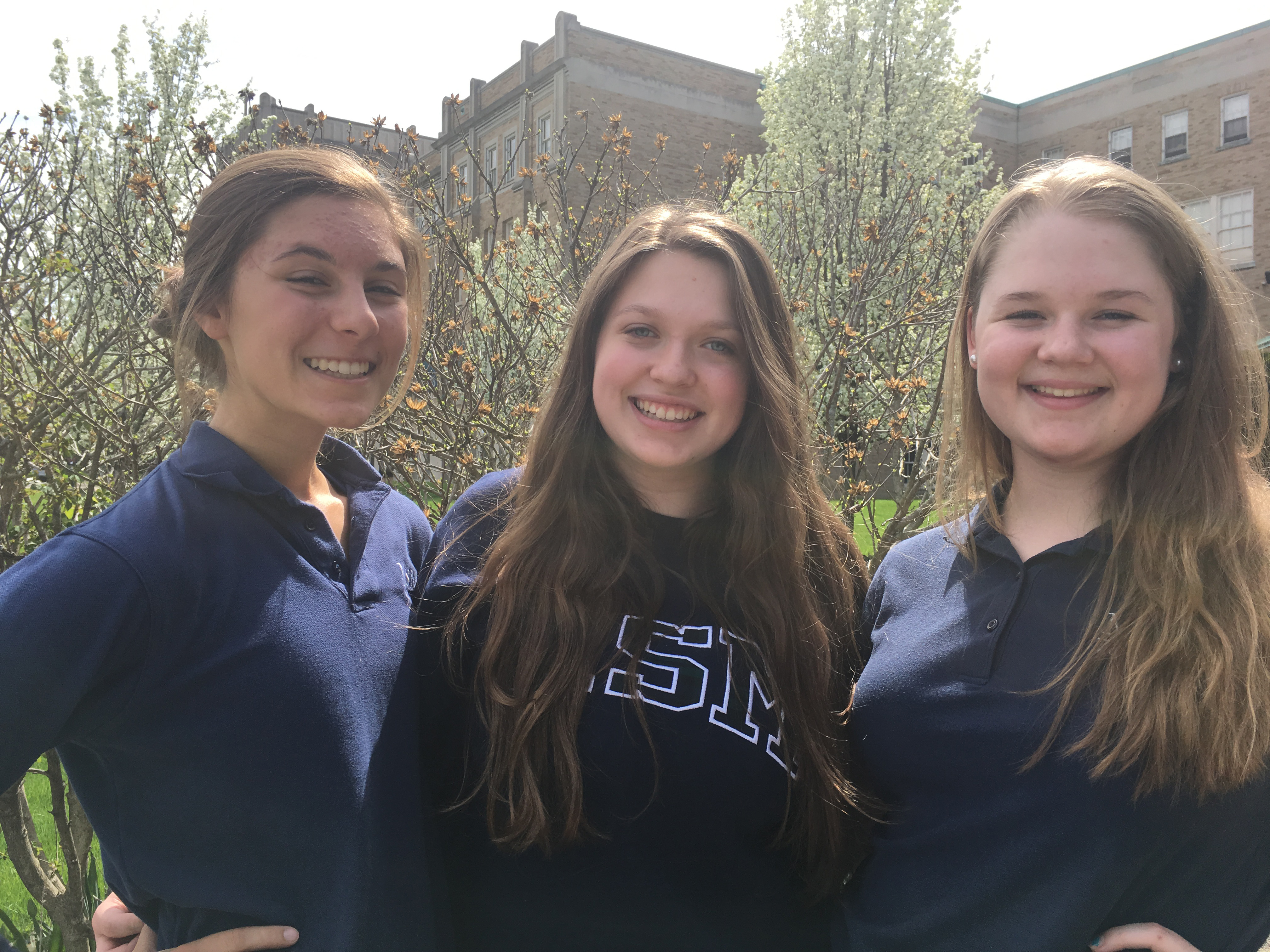 Abby Bradley, Kaitlin Brill and Emily Bingham, sophomores at Mount St. Mary Academy, have started a marketing company called Business Buzz.