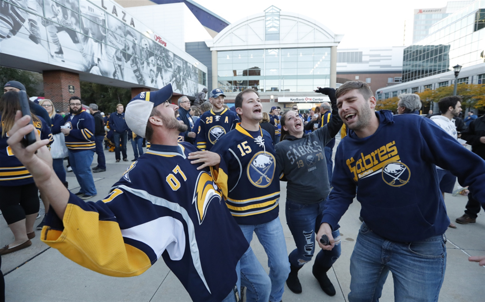 Sabres season-ticket holders have seen their seats rise as much as 47.1 percent since Terry Pegula bought the team in 2011. (Harry Scull Jr./Buffalo News)