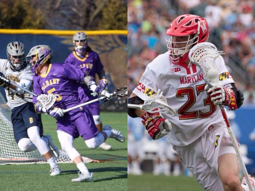Former Timon/St. Jude teammates Connor Fields of Albany and Adam DiMillo of Maryland will be on opposite sides in Sunday's NCAA lacrosse quarterfinal.