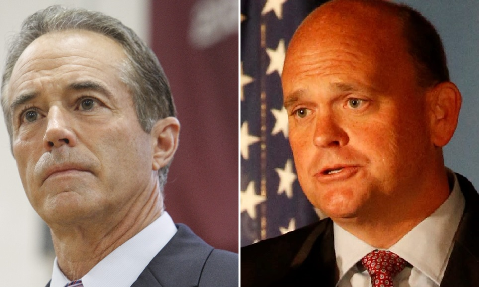 "The votes of Western New York congressman Chris Collins, left, and Tom Reed helped put across health care bill ""that might well have been written by insurance industry lobbyists at the Trump University School of Medicine,"" writes columnist Douglas Turner. (News file photo)"