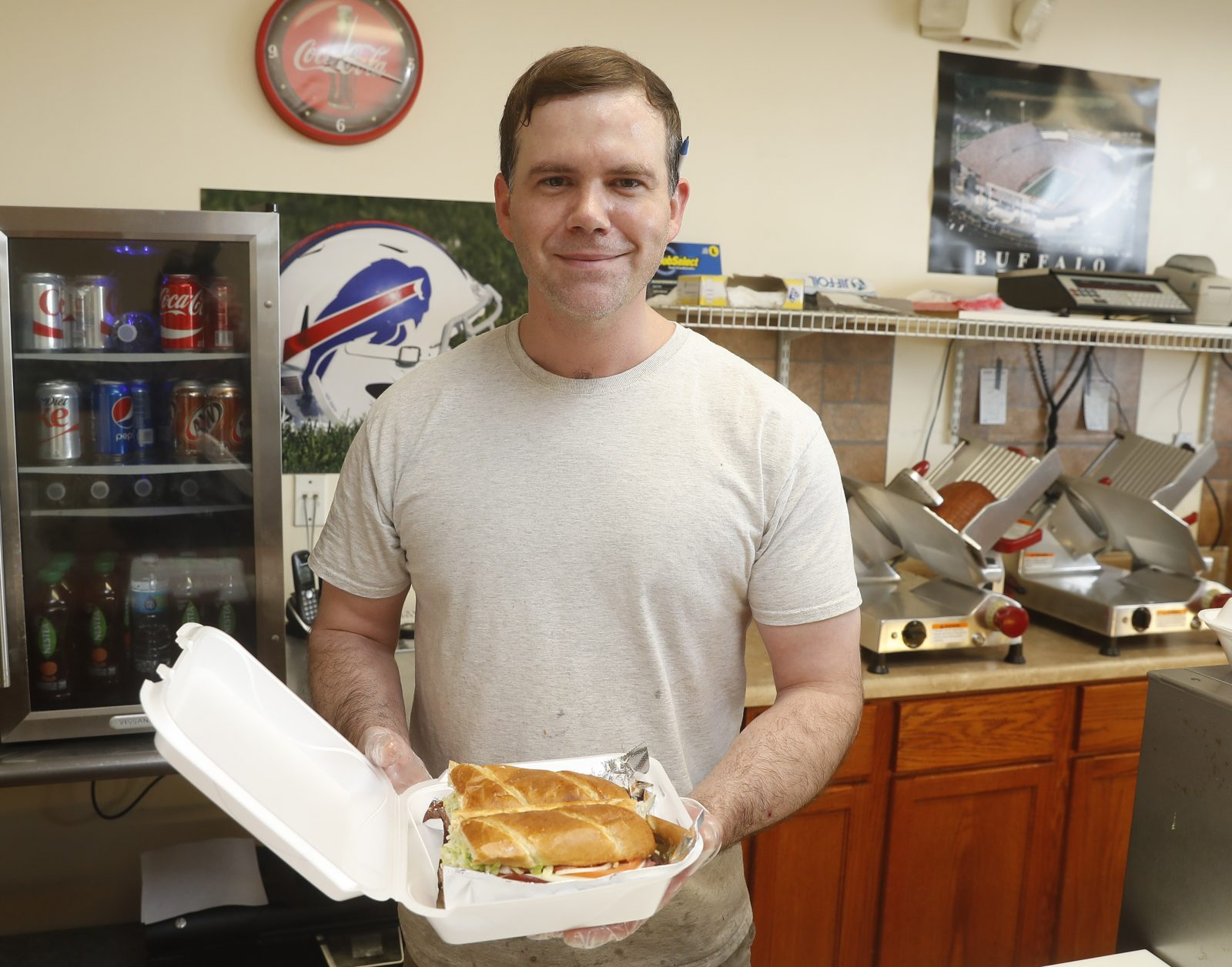 Tailgate Deli's ham and turkey sub with Swiss comes piled high with cold cuts and lots of veggies. (Lizz Schumer/Special to the News).