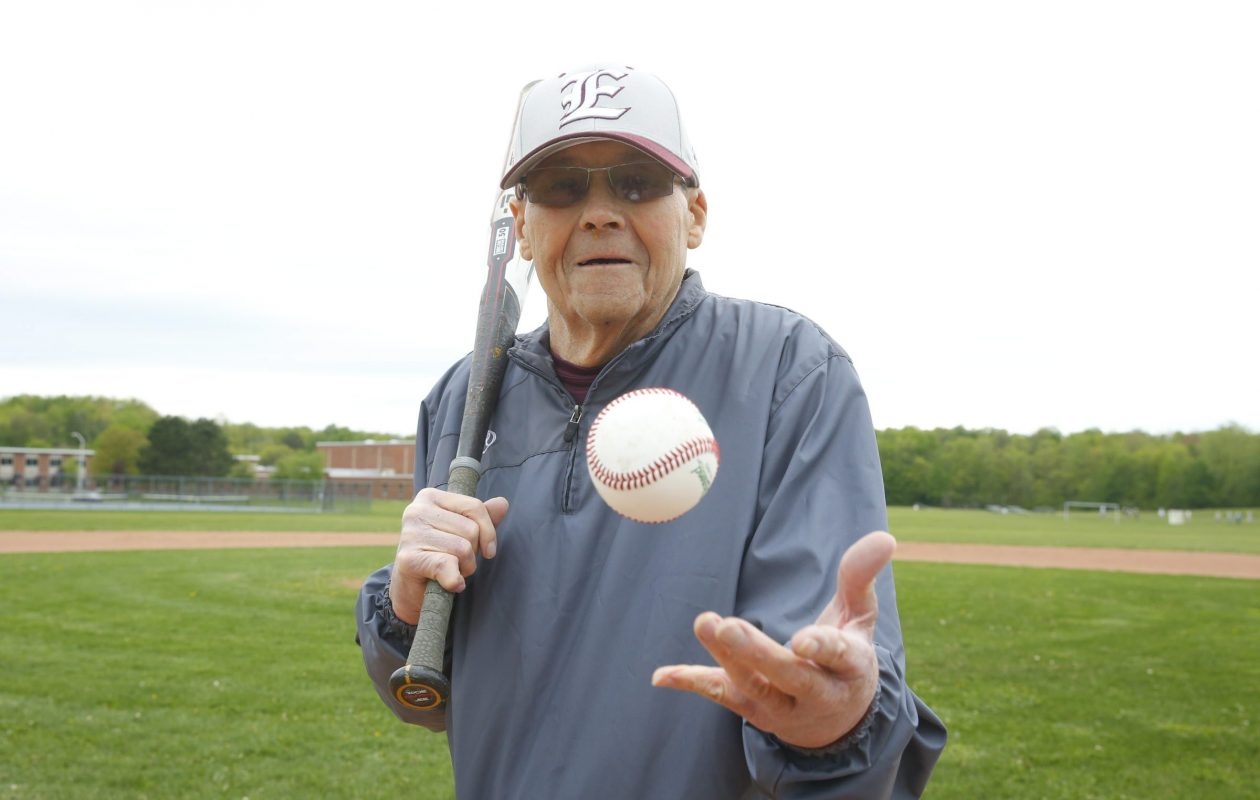 """The late Robert Burnside pictured on May 15, 2015, the day Eden's baseball diamond was dedicated in his honor as """"Coach Burnside Field."""" (Harry Scull Jr./Buffalo News)"""