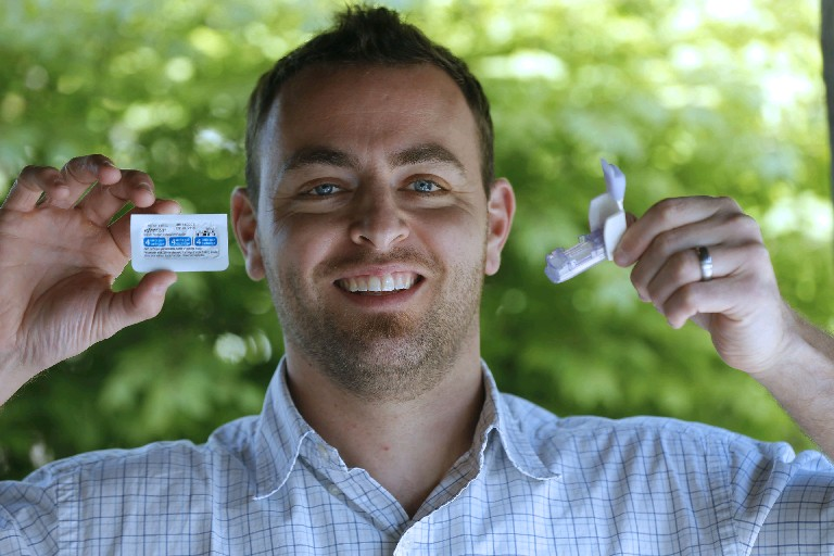 Eric Fenar testified before the FDA about the importance of the inhalable diabetes drug Afrezza, and said it has changed his life. (Photos by Robert Kirkham/Buffalo News)