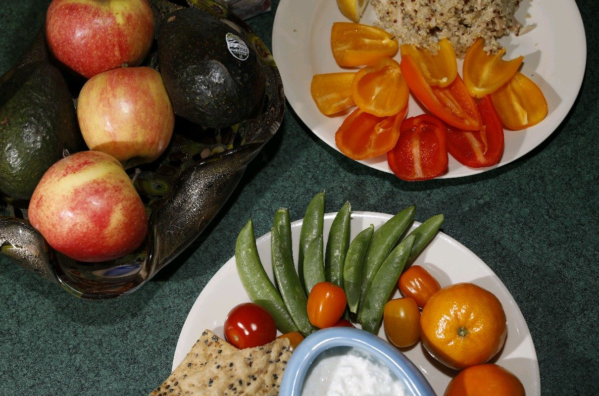 Healthy meals should include a lean protein, vegetable, whole grain, fruit or dairy, and healthy fat, says Allyson Odachowski, a registered dietitian and media representative in Western New York for the New York State Academy of Nutrition and Dietetics.  (Derek Gee/Buffalo News)