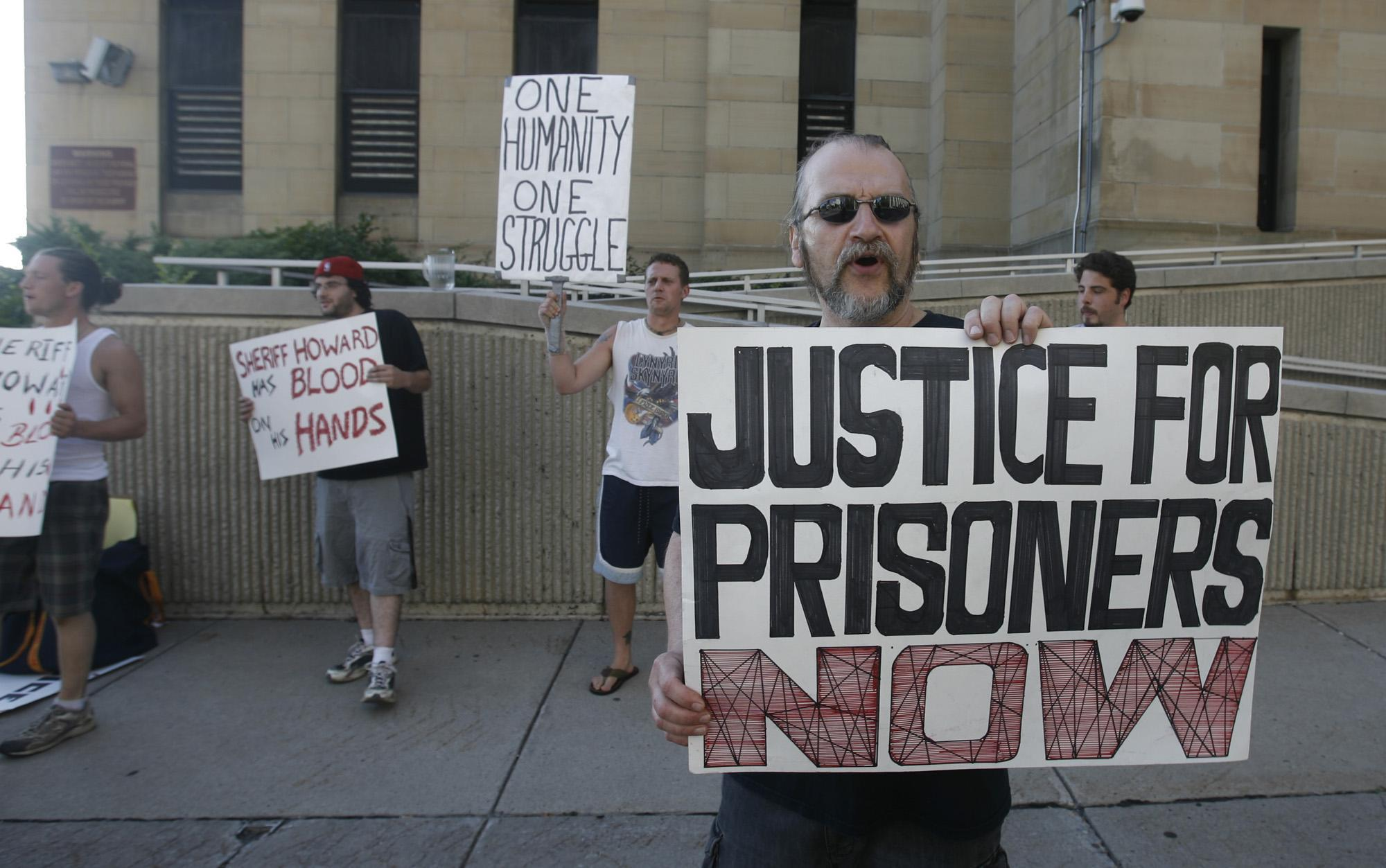 Instead of addressing the types of assaults and suicide attempts that brought these protesters to the Erie County Holding Center a few years ago, Sheriff Howard's staff has used misleading language to keep state monitors in the dark about what's really happening inside his jails. (John Hickey/News file photo)