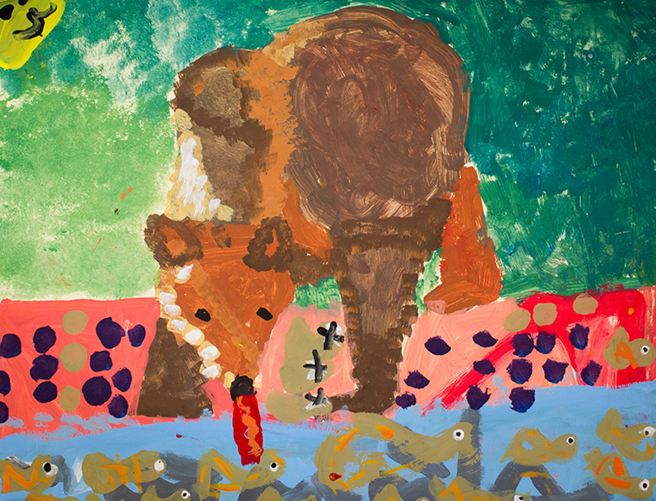 A painting by 6-year-old Takyah Holmes was part of Locust Street Art's 54th annual art show in 2014.